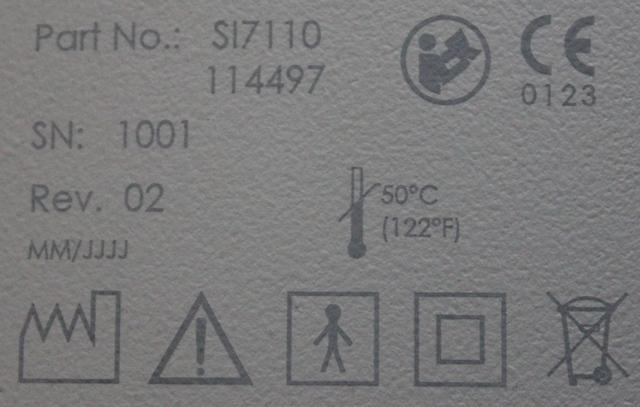 Lasergravur mit dem skylaser Laserbeschrifter auf lackiertem Kunststoff