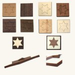 Holzschnitte in verschiedene Holzarten