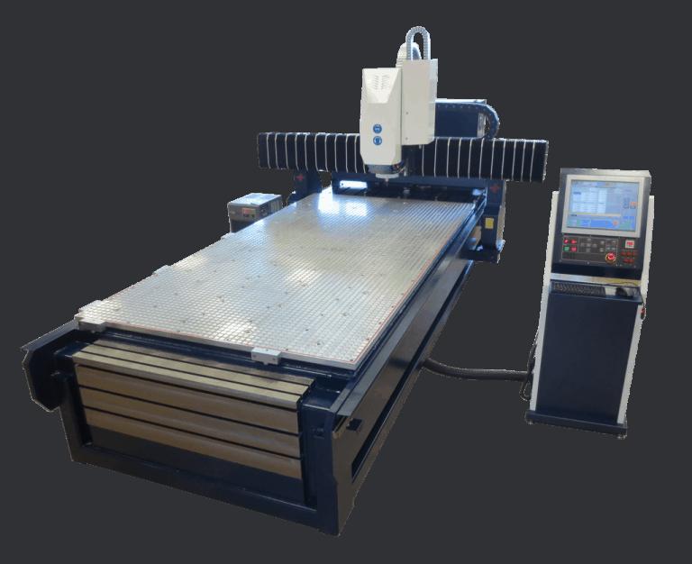 skyCNC 1530 WM Serie Portalfräsmaschine 1550 x 3050 x 250 mm mit Multizonen Vakuum Tisch und solidem Stahlbau zusätzlich mit T- Nuten-Tischelementen nach Ihrem Bedarf clever, flexible, Fräsmaschinen aus Sachsen