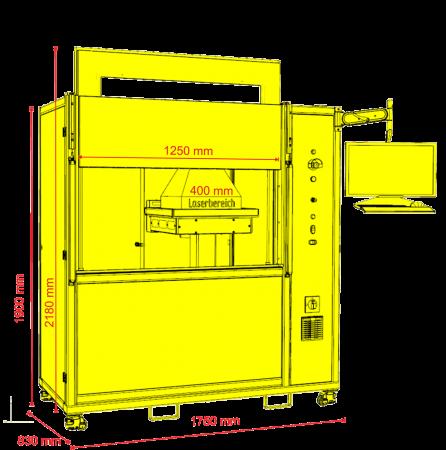 skyLASER Mark EX CO2 Laser Lasergravierer X400 x Y400mm x Z400mm